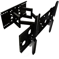 Mount-It! Swivel Tv Wall Mount Tilting Dual Arm Fits most 32 to 55 VESA 200x200 300x300 400x200 400x400 500x200 500x300 600x200 600x300 600x400 660x460 Flat Panel Plasma TV LED LCD Display