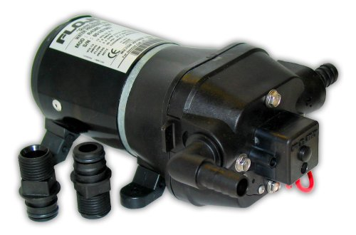 Flojet 04405143A Quad DC Water System Pump, Bypass Included, 12 Volt, 3.3 GPM , Black