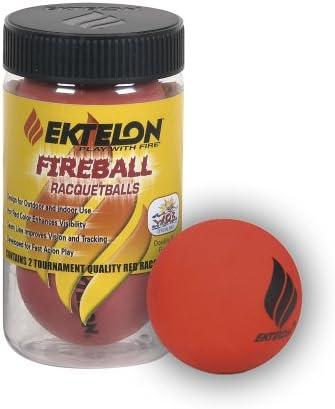 Prince Bola de Fuego 2 Bolas ektelon Racquetball Puede: Amazon.es ...