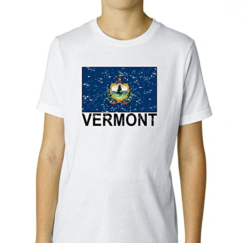Vermont State Flag - Special Vintage Edition Boy's Cotton Youth T-Shirt
