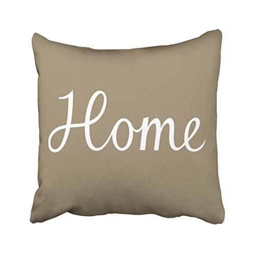 Tarolo Decorative Home Script in White on Taupe Accent Pillow Case Size 16x16 inches(40x40cm) One - Sunglasses Decent