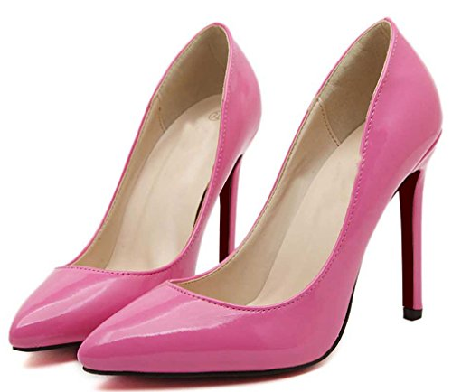 CAMSSOO Women's Sexy Fashion Shallow Pointed Toe High Heels Pumps Dress Stilettos Shoes Rose u2gMRpYBHs