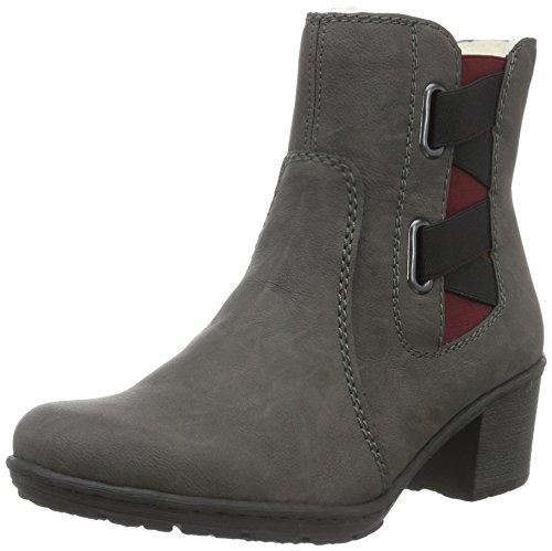 zipper Rieker Grey boots grey womens pwAqzB