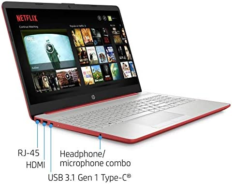 """2021 Premium HP Laptop Computer, 15.6"""" HD Display,Intel Pentium Dual-core Gold 6405U 2.4 GHz, 8GB DDR4 RAM, 128GB SSD, HD Webcam, HDMI, Bluetooth, WiFi, Win10 S, 10+ Hours Battery, w/Marxsol Cables WeeklyReviewer"""