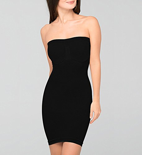 - Body Wrap Women's Strapless Bra Slip,Black,Small