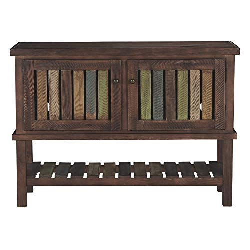 Ashley Furniture Signature Design - Mestler Console Table - Entertainment Center - Rustic Brown ()