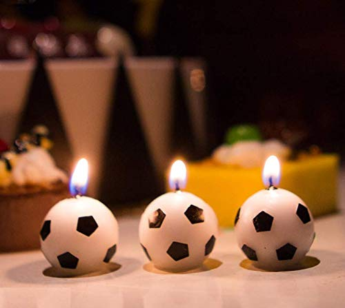 Astra Gourmet 6Pcs Soccer Ball Football Birthday Party Cake Candles for Kid Birthday Party Decoration ()