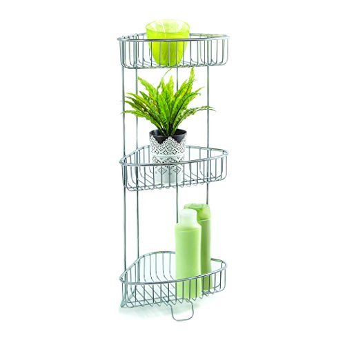 Open Wire Shelving Accessories (HomeCrate Bathroom Accessories Corner Stand Open Wire Design With Three Shelves 26