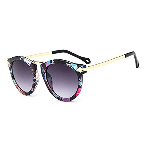 EYX Formula European version Vintage Classic fashion Round Arrow sunglasses ,Colorful Retro fancy frame Polarised Reflective sunglasses for - Polarised Sunglasses Safety