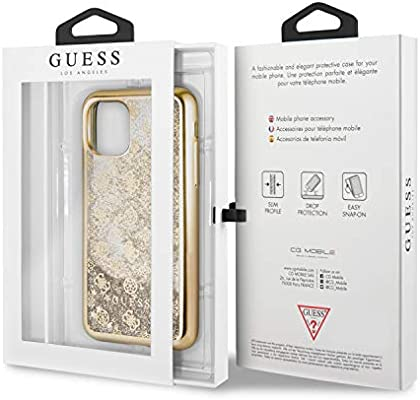 GUESS GUHCN58PEOLGG 4G Peony Liquid Glitter PCTPU Hard Case