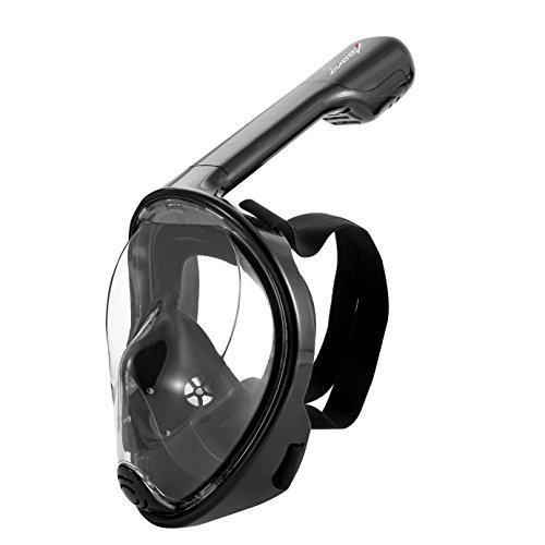 LUOOV 180 ° Scuba Mask, Tauchmaske,Schnorcheln Maske, für Erwachsene und Jugendliche Größe breit View Full Face mit Anti Nebel Spray - Einfaches Atmen Technologie (Grün, S-M)