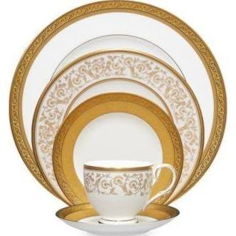 Noritake Gold Dinnerware - Noritake Summit Gold 5 Piece Place Setting