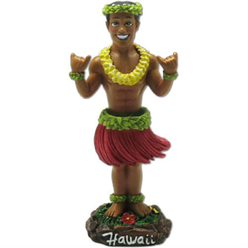 Shaka Hula Boy Mini Dashboard Doll 4'' by KC Hawaii