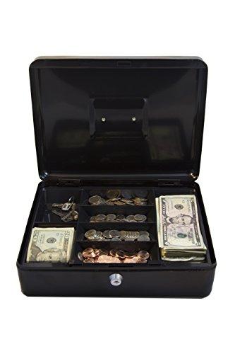 Kingsley Large Cash Box, Cash Drawer, Black