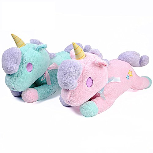 Amazon.com: Funif Cute Unicorn Throw Pillow for Home Sofa Decoration Stuffed Plush Toys Back Cushion Creative Doll Tissue Box Cover Pink 18.5