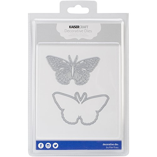 Kaisercraft Die-Butterflies, 3.25 by 1.75-Inch to 3.25 by 1.75-Inch