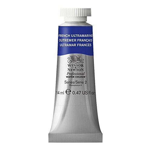 (Winsor & Newton Professional Water Colour Paint, 14ml tube, French Ultramarine)