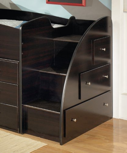 Signature Design by Ashley B239-13R Embrace Collection Right Storage Step with Loft Ends, Merlot