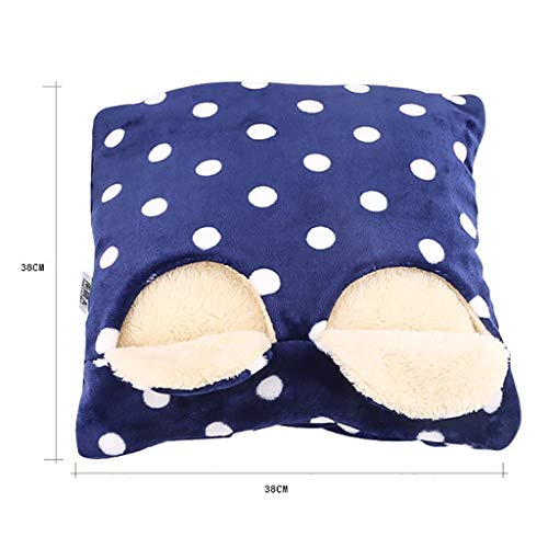CHAOYANG Comfortable Electric Foot Warmer/Hand Warmer Removable Washable Plush Warm Foot Pad, Blue. by CHAOYANG