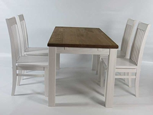 Brasilmöbel Table de Salle à Manger en Bois, pin Massif, huilé et ...