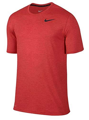 (Nike Men's Dri-FIT? Training Shirt, University Red/Light Crimson/Black, LG)