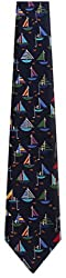 BOAT-15 - Mens Sailboat Theme NeckTie Ties Novelty