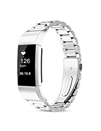 For fitbit charge 2 band, 316L Stainless Steel Replacement Accessory Bracelt Band.Small,Large Metal Bands for Fitbit Charge 2 band/Charge 2 Bands/Fitbit Charge 2