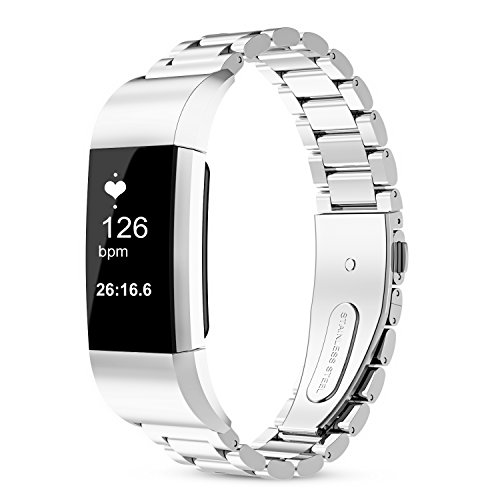 For fitbit charge 2 band, 316L Stainless Steel Replacement Accessory Bracelt Band.Small,Large Metal Bands for Fitbit Charge 2 band/Charge 2 Bands/Fitbit Charge 2 by WOCOOL (Image #7)