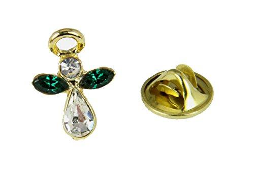 - 6030062 May Crystal Birth Month Angel Pin Guardian Lapel Brooch Tie Tack