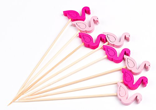PuTwo 100ct 4.7'' Cocktail Picks Handmade Bamboo Toothpicks (Flamingo) by PuTwo (Image #3)