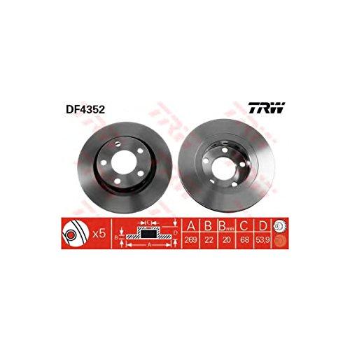 Genuine TRW Vented Brake Discs - Part Number DF4352: