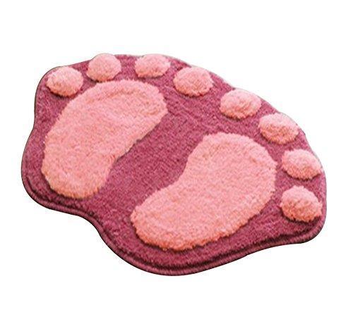 [Da.wa Coral Fabric Non Slip Water-Absorbing Bath Floor mat,22