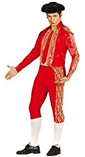 Mens Red Bull Fighter Spanish Matador Fancy Dress Costume Outfit Size Large  (Large)
