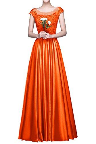 La mia Braut Langes Satin Spitze Abendkleider Partykleider Jugendweihe  Kleider Cocktailkleider A-Linie Rock Orange n7q5sg 1fc300eead