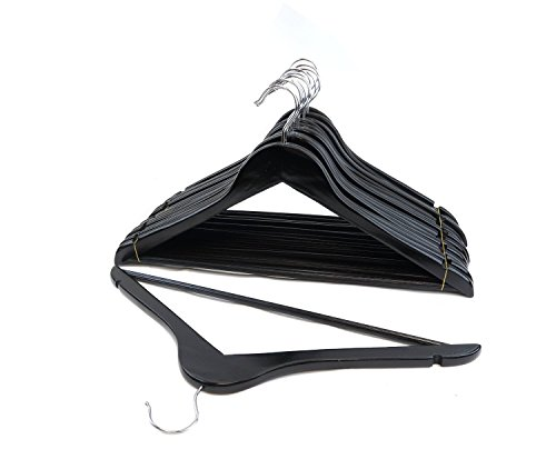 Florida Brands Suit Hangers, Black Wood, Set of 96 by FloridaBrands