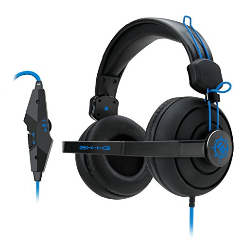 ENHANCE GX-H3 Stereo Gaming Headset with Over-Ear Headphones , Adjustable Mic & In-Line Volume Control – Works with Heroes of the Storm , Starcraft II , Call of Duty: Black Ops III & more