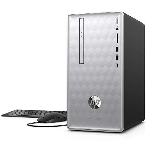 HP Pavilion Desktop AMD Ryzen 7-Series 12GB Memory AMD Radeon RX 550 1TB Hard Drive HP Finish In Natural Silver 590-P0060