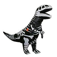 Inflatable Dinosaur Costume for Adult, T-Rex Skeleton Dinosaur Halloween Fancy Dress (Adult (Height 5