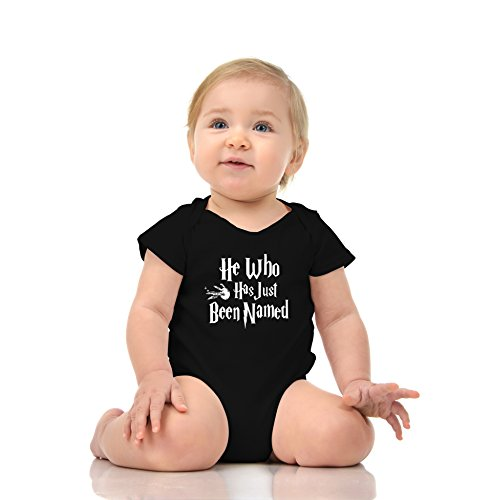 PURE SOUL Funny Wizard He Who Has Just Been Named - Onesie Baby Unisex Romper Gift in Clear Poly Bag