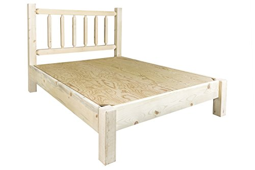 Montana Woodworks Homestead Collection California King Platform Bed, Ready to Finish California King Unfinished Bed