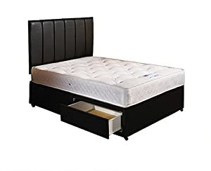 Somnior beds ortho divan bed mattress headboard 2 drawers for 4 foot divan beds with drawers