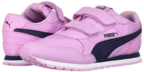PUMA Unisex-Kids ST Runner NL Velcro Sneaker, Orchid-Peacoat, 2 M US Little Kid by PUMA (Image #6)
