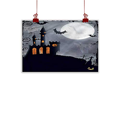 Anzhutwelve Simple Life Minimalist Vintage Halloween,Scary Bats Ghosts 24