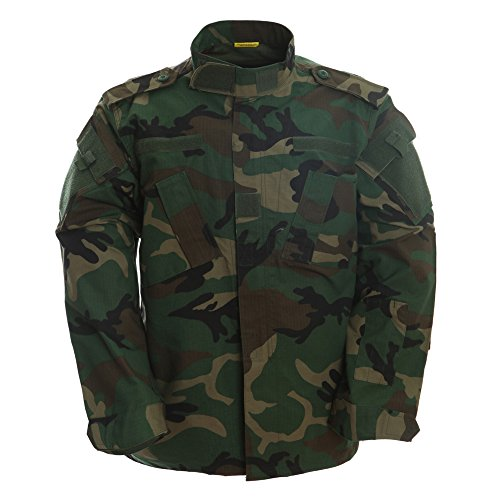 Military Jungle (TACVASEN Mens Tactical Response Combat Shirt Jungle Camouflage Hunting Military Uniform Clothing L)