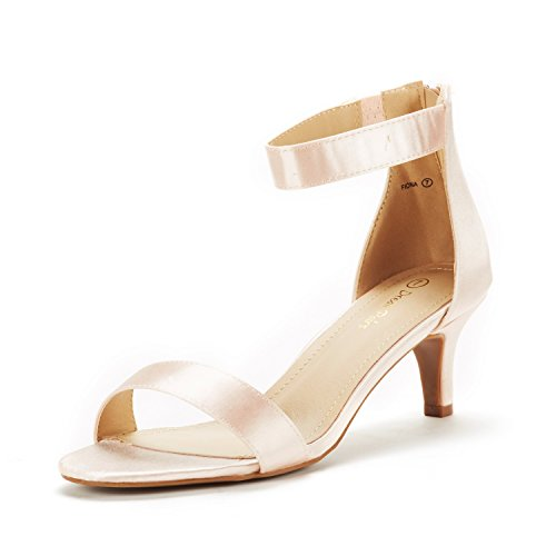 (DREAM PAIRS Women's Fiona Champagne Fashion Stilettos Open Toe Pump Heeled Sandals Size 7 B(M) US)