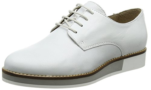 80 White Derby Mujer para Bianco Lace Cordones Blanco Shoes Zapatos Up de YnHPnqwvOf