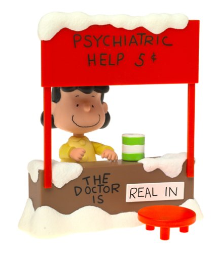 Peanuts Lucy Van - Peanuts Lucy Van Pelt with Psychiatric Mood Booth Playset - The Doctor is In! A Charlie Brown Christmas