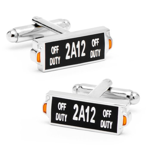 NYC Taxi Sign Cufflinks Novelty 1 x 1in