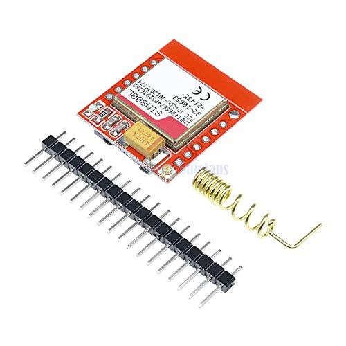 ミニ最小 SIM800L GPRS GSM モジュール MicroSIM カードコアワイヤレスボードクワッドバンド TTL シリアルポート用のアンテナ arduino