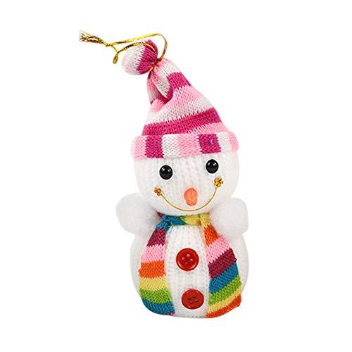 Jacksayso - Adornos navideños para Navidad, diseño de muñeco de Nieve, Blanco-D, 002